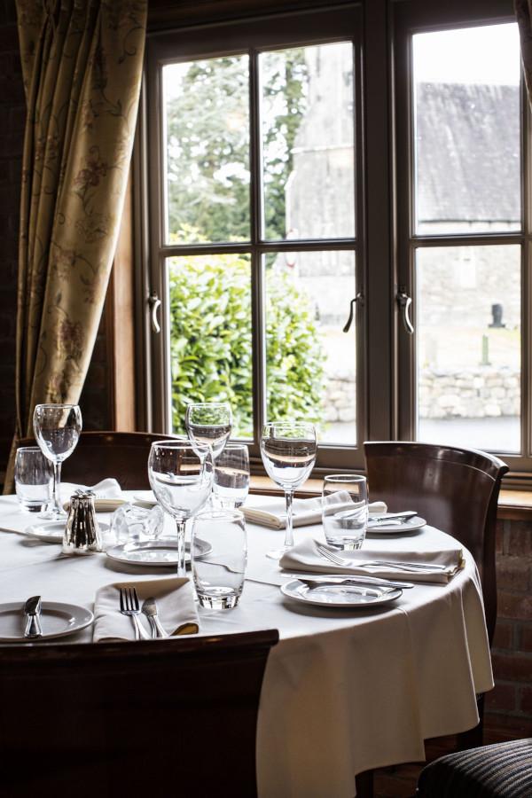 Dining room at the Olde Post Inn, Cavan
